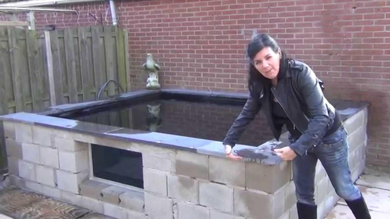 The koi whisperer visits 2500 gallon koi pond in the for Koi pond gallons