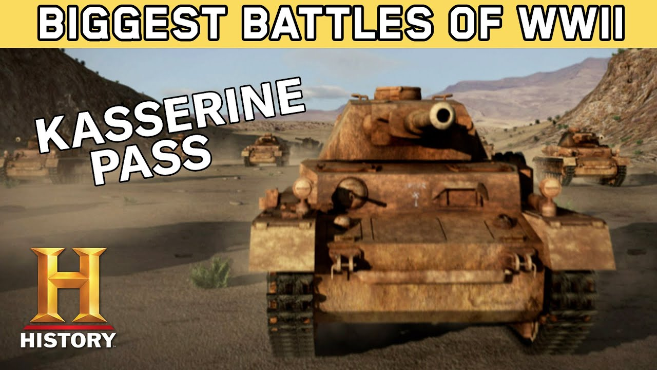 US & Germany Clash at Kasserine Pass | Biggest Battles of WWII | History