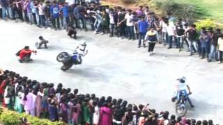 Ajkcas Bike Stunt Organised by Dept of Commerce Ajk College of Arts and Science,Coimbatore