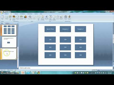 How to make a jeopardy game in powerpoint!
