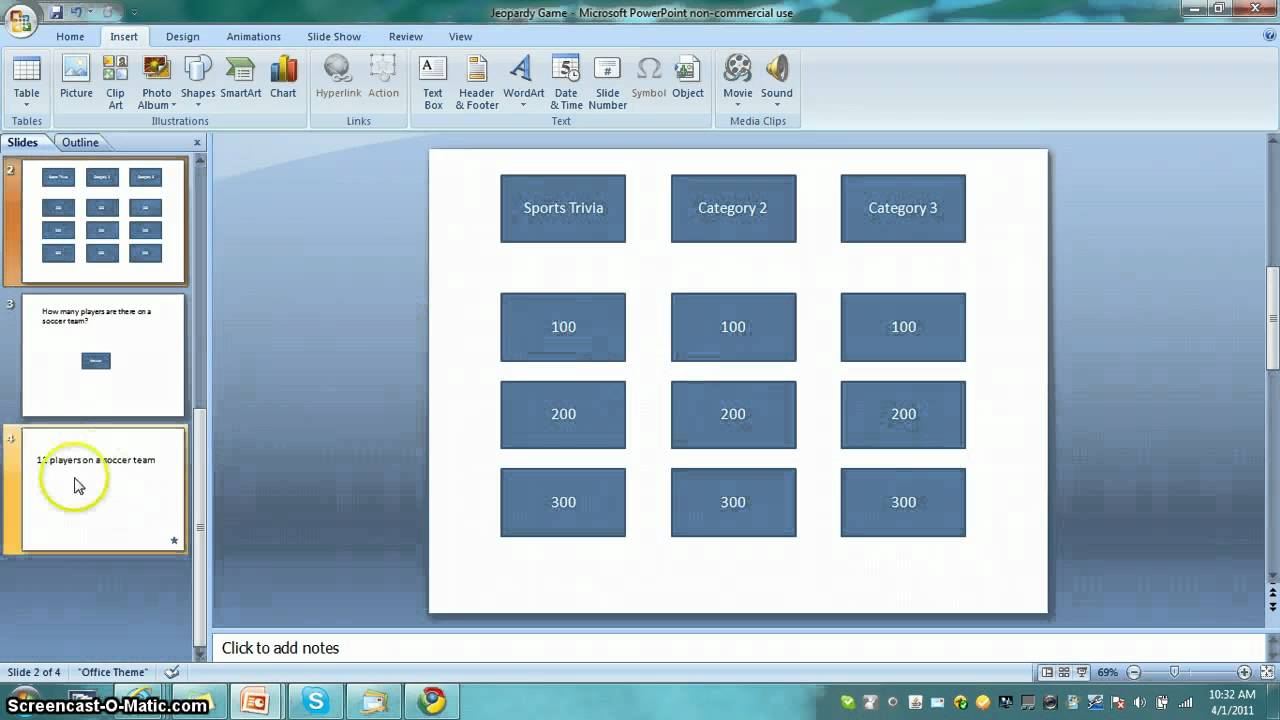how to make a jeopardy game in powerpoint! - youtube, Powerpoint templates