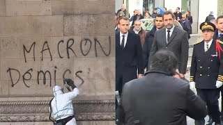 """Nach """"Gelbwesten""""-Protesten: Macron erwägt Verhängung des Ausnahmezustands"""