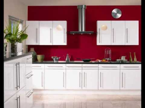 Kitchen cabinets replacement - High Gloss White Kitchen Doors Wmv Youtube