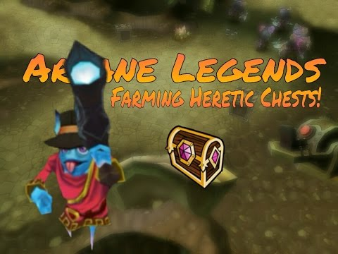 FARMING HERETIC CHESTS! | Arcane Legends