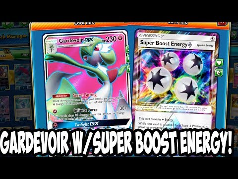 Gardevoir GX W/ Super Boost Energy! Gardevoir Sweeps Opponen