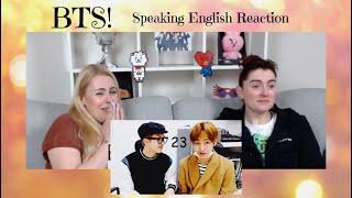 BTS Speaking English Compilation Reaction