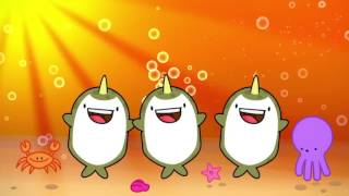 Narwhals song FOR KIDS! Swimming in the ocean
