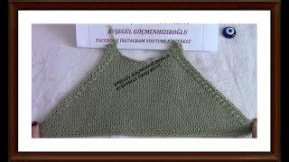 Kazak Bluz Ve Hırkalarda reglan Kol Kesmi yapılışı