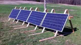 Off grid solar panel system overview