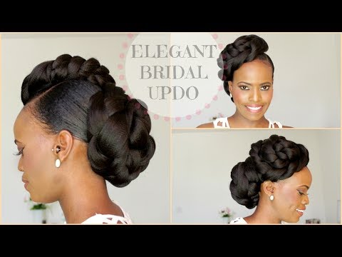 NATURAL HAIR BRIDAL  STYLE UPDO - MELISSA ERIAL