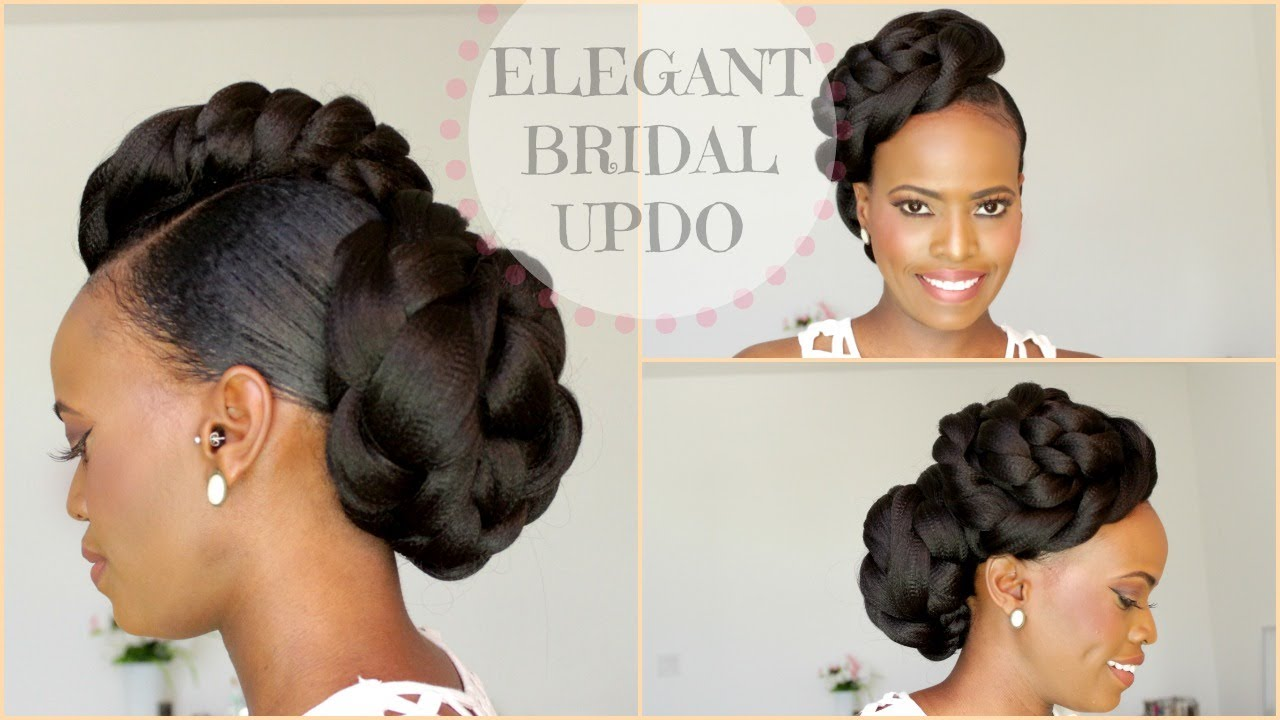 NATURAL HAIR BRIDAL STYLE UPDO - MELISSA ERIAL - YouTube