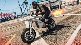 AMAZING ROCKET BIKE STUNTS! - (GTA 5 DLC Stunts & Fails)
