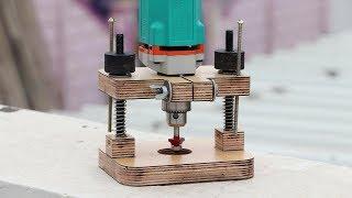 Make A Router Attachment For Drill Machine || Homemade Drill Attachment