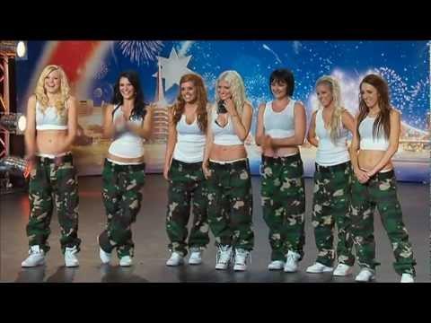 Jasmine Meakin & The Mega Jam Dancers - Australia's Got Talent 2012