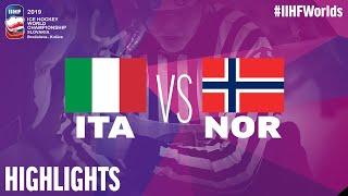 Italy vs. Norway - Game Highlights - #IIHFWorlds 2019