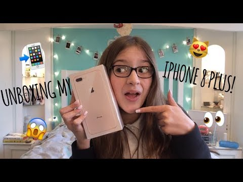 UNBOXING MY NEW IPHONE 8 PLUS!