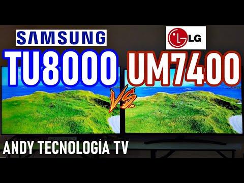 SAMSUNG TU8000 vs LG UM7400: CALIDAD DE IMAGEN, MODO JUEGO, SONIDO, SISTEMA OPERATIVO ¿CUÁL COMPRAR?