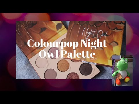 COLOURPOP NIGHT OWL REVIEW + SWATCHES *LIMITED EDITION*