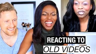 REACTING TO MY OLD YOUTUBE VIDEOS STARTED FROM THE BOTTOM BEYONC, TUTORIALS, MORE