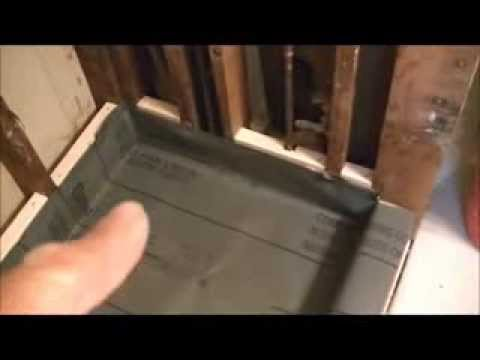 How to install a vinyl shower pan video