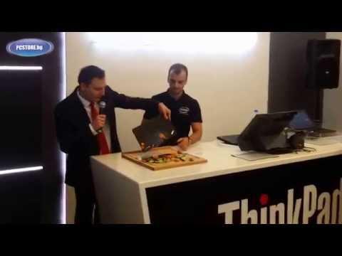 Lenovo ThinkPad official crash test - Bulgaria, 15.10.2015