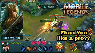 Mantap Yun zhao build item, mematikan - mobile legends