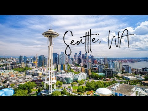 Seattle, Washington - from a Drone