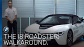 The Bmw I8 Roadster A Convertible Plug In Hybrid Sports Car Youtube