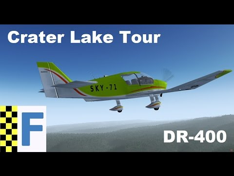 [FlightGear] Crater Lake National Park Tour / DR-400 / Great Flight!