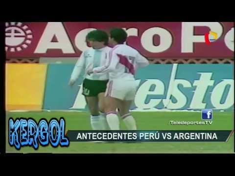 peru vs argentina/ marcacion de Reyna a Maradona