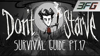 Don't Starve PS4 - Beginners Survival Guide Pt.17 - DODGING NIGHT MONSTERS! (xX-SERVANT-Xx) 3FG