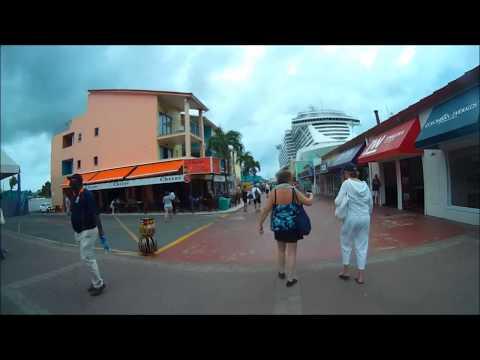 St John Antigua port walk around w/o sound