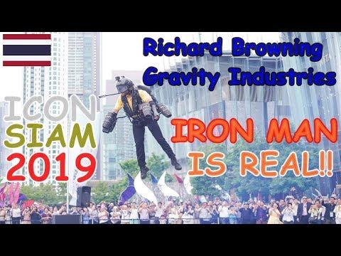 Richard Browning Iron Man Real at ICONSIAM Bangkok A Jet Suit Pilot Flight 2019   Softcream 48