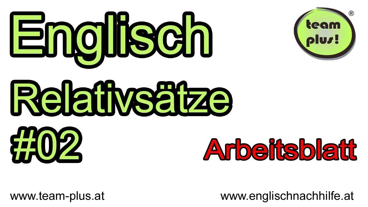 Relativsätze #02 - relative clauses - Englische Grammatik ...