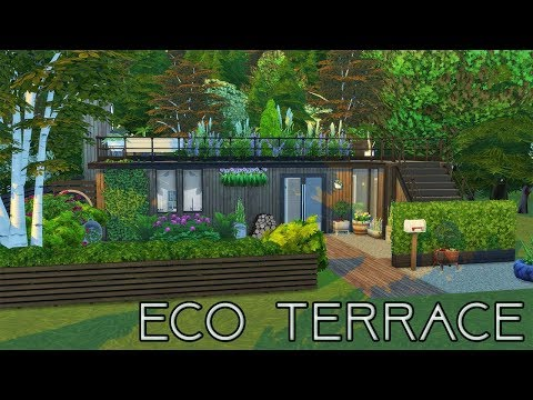 Modern Eco Terrace   Speed Build   The Sims 4 CC
