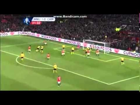 Marco Rojo Goal Manchester United vs Cambridge