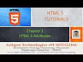 HTML 5 - Chapter 3 - HTML 5 Attributes