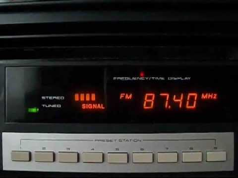FM BANDSCAN BUDAPEST - VIDEOTON RT 7300 S RADIO TUNER