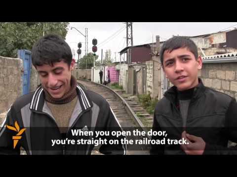 Life Along The Train Tracks In Baku's 'Shanghai'