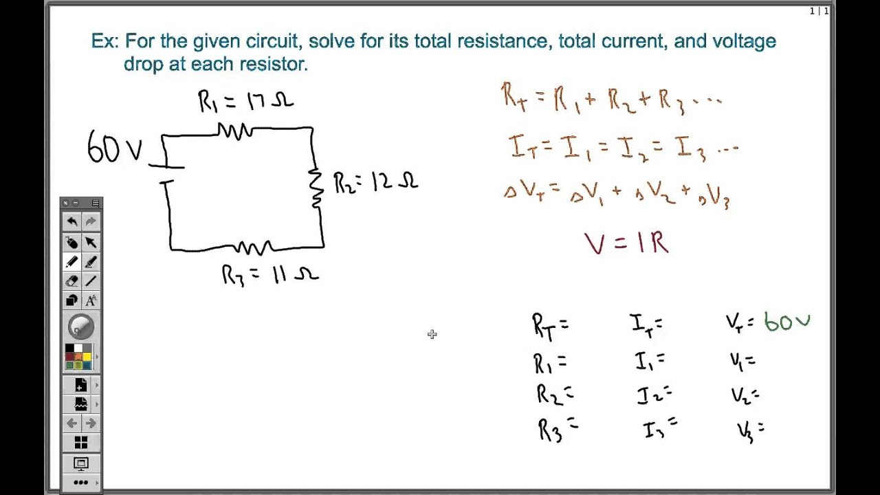 Series Circuit Example Problems Wiring Source