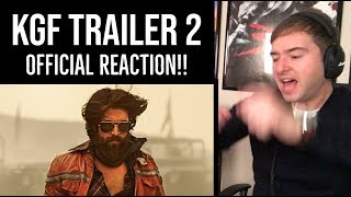 KGF TRAILER 2 - Official Reaction!!