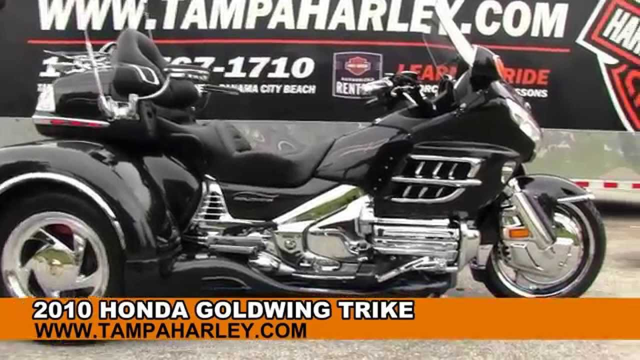 Used 2010 Honda Goldwing Trike Motorcycle For Sale Florida dealer