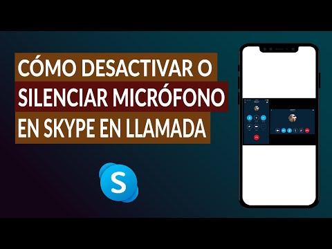 Cómo Desactivar o Silenciar el Micrófono en Skype Durante una Llamada