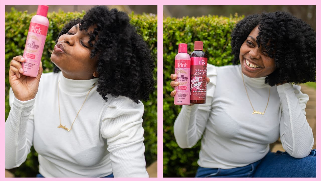 WASH DAY + TWIST OUT | I USED PINK LOTION ON MY HAIR