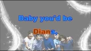 One Direction - Diana (Karaoke/Instrumental) with lyrics