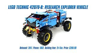 LEGO Technic 42070 B-model: Research Explorer Vehicle In-depth Review & Speed Build [4K]