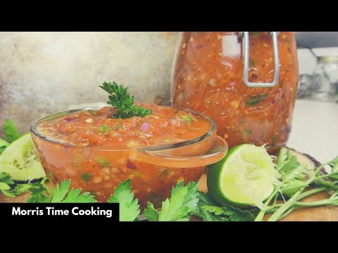 Homemade Tomato Salsa | Lesson #92 | Morris Time Cooking
