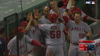 LAA@BOS: Angels push 11 runs across the plate in 7th