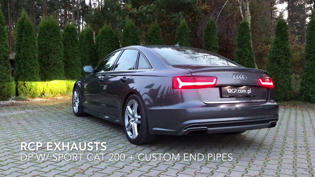 audi a6 c7 3 0tdi rcp exhausts downpipe youtube. Black Bedroom Furniture Sets. Home Design Ideas