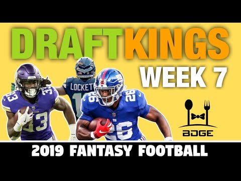 Must Start Week 7 DraftKings Picks